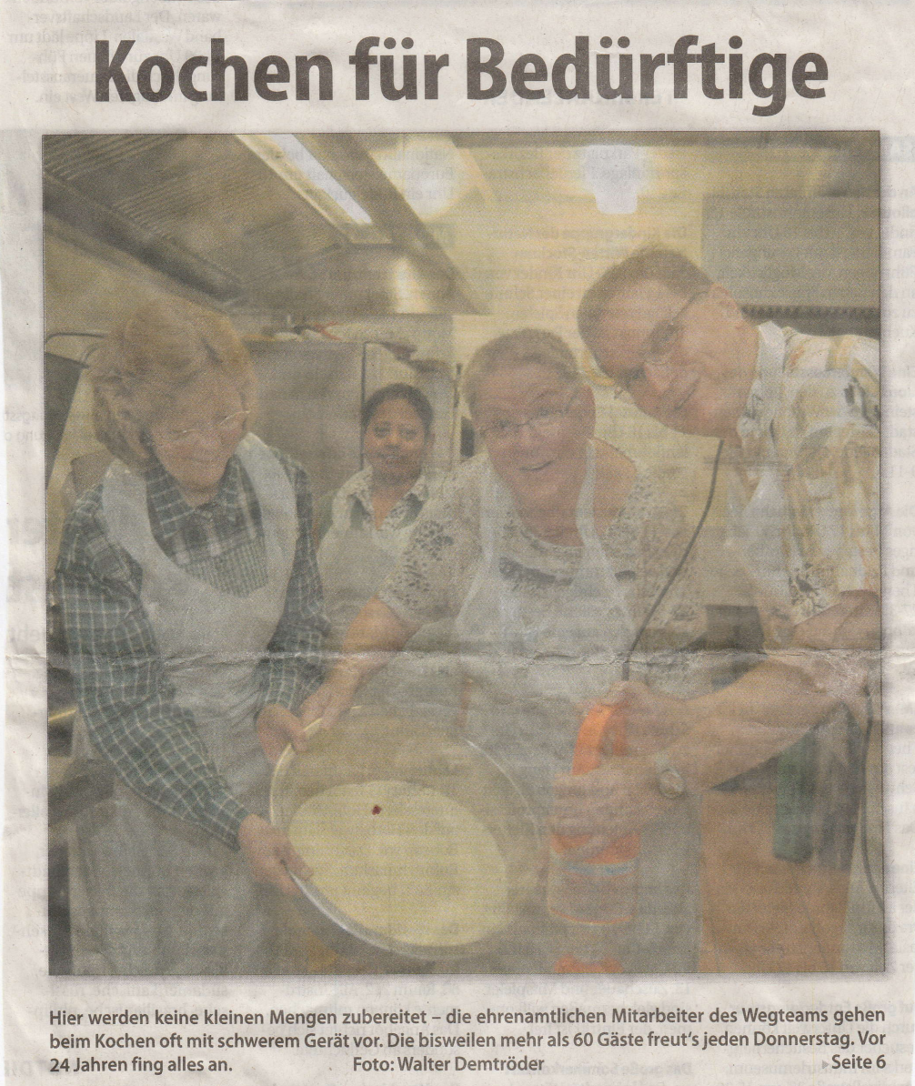 Wegteam e.V. - Kochen für Bedürftige - schöner